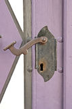 Old door lock and handle Stock Image