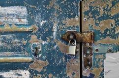 Old door lock. Royalty Free Stock Photo