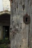 Old door and lock Stock Photo
