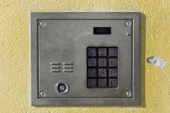 Old door lock with numeric keypad Stock Photos