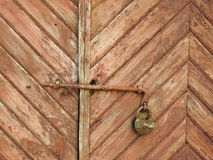 Old door and lock Stock Photography