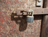 Old door and lock Stock Image