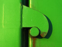Old door locked with latch Royalty Free Stock Photography