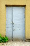 Old Door Locked with Padlock Royalty Free Stock Image