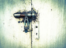 Old door locked. Vintage old door was locked Stock Photos