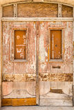 Old door locked Stock Photo