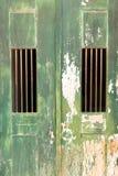 Old door locked Stock Photos