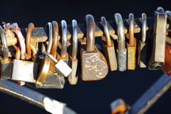 Old door locks Stock Photo