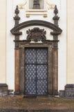 Old door. Old metal church door in Czech Stock Photos