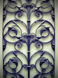 Old door metallic ornament Stock Images