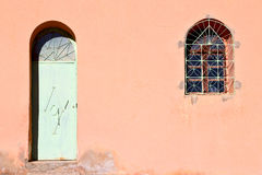 old door in morocco africa ancien and window Stock Image