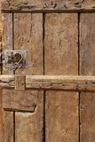 Old Door with Mortise Lock and doorknob Royalty Free Stock Photography