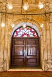 An old door of The mosque of muhammad ali in Egypt stock photos