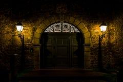 Old door at night Royalty Free Stock Photo