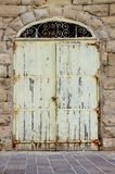 Old door in mdina malta Stock Image