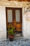 Old door. In Kakopetria village, Cyprus Royalty Free Stock Image