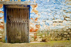 Old door of a old house Royalty Free Stock Photo