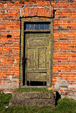 Old door in old house Royalty Free Stock Photo