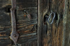 Old door and old key detail Royalty Free Stock Photography