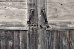 Old door and old wood texture Stock Photography