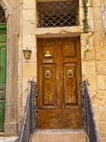 Old door in one of the houses in Malta Royalty Free Stock Photos