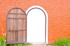 Old door is open Stock Images