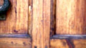 Old door opens. Old door with brass handle opens close to stock video footage