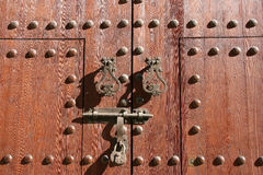 Old door padlock Royalty Free Stock Photo