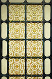 Old door patterns Alloys vintage background Royalty Free Stock Photography