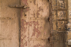 Old door with peeling paint Royalty Free Stock Images
