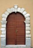 Old door reconstructed Stock Image