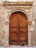Old door in Rethymnon Stock Images