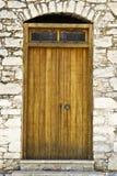 Old door in Rhodes stock photo
