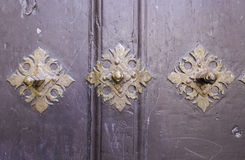 Old door with rivets Stock Photography