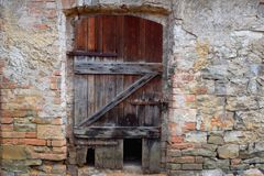 Old Door, Ruin stock photos