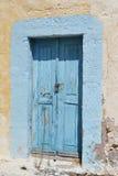 Old door of ruined home in Kefalos Royalty Free Stock Image