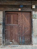Old door of rural house Stock Photography