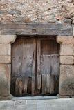 Old door of rural house Stock Images