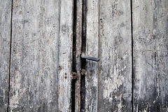 Old door rusty handle and keyhole, Italy Royalty Free Stock Image