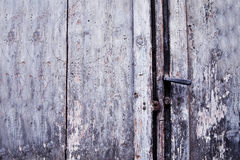 Old door rusty handle and keyhole, Italy Stock Photo