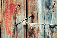 Old door with rusty handle Royalty Free Stock Images