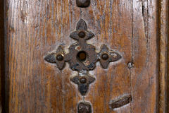 Old Door With Rusty Iron Royalty Free Stock Photography