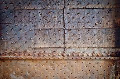 Old door rusty metal cover Royalty Free Stock Images