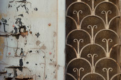 Old door rusty pattern Royalty Free Stock Photo