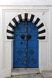 Old door in Sidi Bou Said. Door of a traditional Tunisian Door Stock Photo