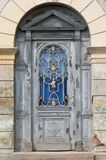 Old door in Sighisoara, Romania stock image