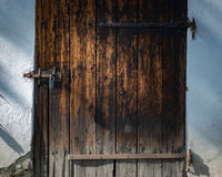 Old door in Skansen museum in Stockholm, Sweden. Stock Photos