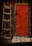 Old door and staircase Royalty Free Stock Images