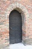 Old door in stone castle, Verona Royalty Free Stock Photos
