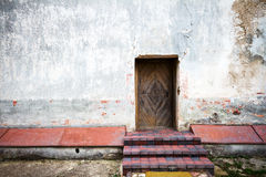 Old door and stone steps Stock Photo